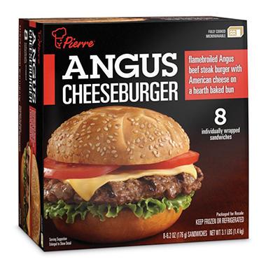 Pierre Angus Cheeseburger 6 2 Oz Each 8 Ct Sam S Club