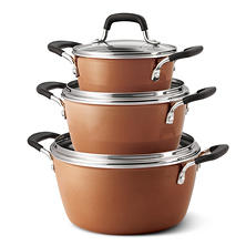 Tramontina 6-Piece Stackable Cookware Set (Assorted Colors)