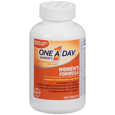 one a day women s formula complete multivitamin   250 ct