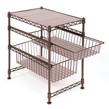 Seville Classics Stackable Kitchen Cabinet Organizer (Bronze)