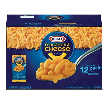 Kraft macaroni cheese dinner oz box 12 pk for Craft macaroni and cheese