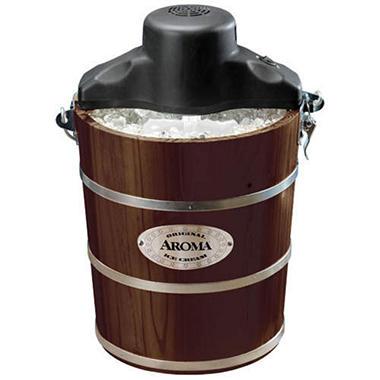 Aroma Ice Cream Maker - 4 qt. - Walnut - Sams Club