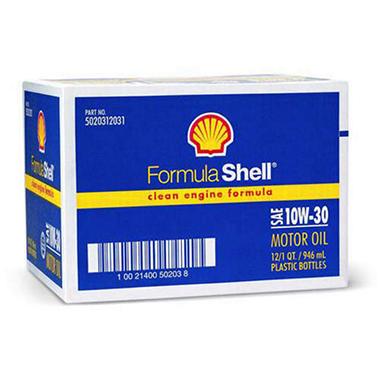 Formula shell sae 10w30 motor oil 1 quart bottles 12 for Formula shell motor oil