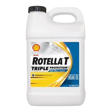 Rotella t 15w40 heavy duty motor oil 2 pack 2 5 gallon for Gallon of motor oil