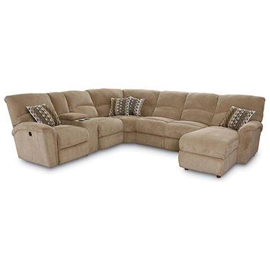 Lane furniture robert 4 piece reclining sectional sofa for 4 piece recliner sectional sofa