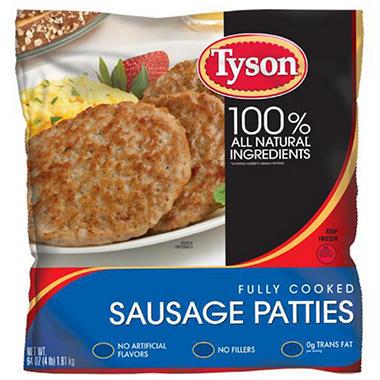 Costco Auto Program >> Tyson Fully Cooked Pork Sausage Patties (4 lb.) - Sam's Club