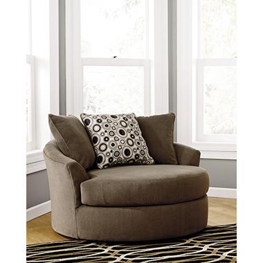 Roenik Oversized Swivel Accent Chair Sam S Club