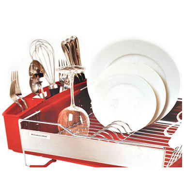 Ka ss dish rack red or gray sam 39 s club - Kitchenaid dish rack red ...