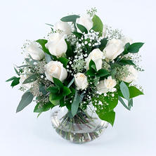 White Rose Wedding Collection - Centerpiece (6 pc.)