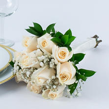White Rose Wedding Collection - Bridesmaid Bouquets (3 pc.)
