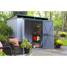 10' x 4' EuroLite Steel Lean-To Storage Shed