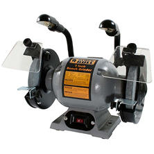 "Black Bull 8"" Bench Grinder with Worklights"