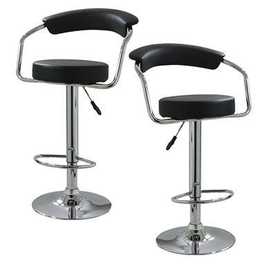 Amerihome Classic Elegant Adjustable Height Bar Stool Set