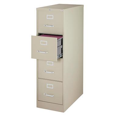 Hirsh - 4-Drawer Commercial Vertical File Cabinet 26.5