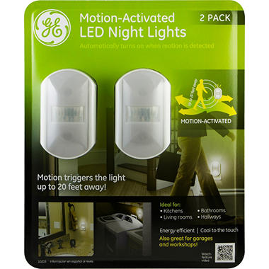 Ge Motion Sensing Led Night Lights With Chrome Finish 2