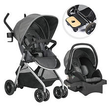 Evenflo Sibby Travel System with LiteMax Infant Car Seat (Choose Your Color)