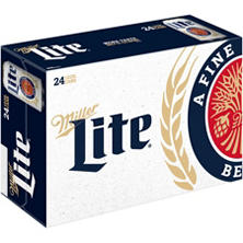 Miller Lite Beer (12 fl. oz. can, 24 pk.)