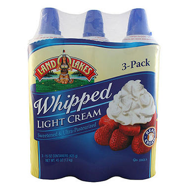 Land O'Lakes™ Whipped Light Cream 15 oz. cans - 3 ct ...