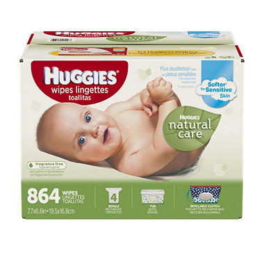 Huggies Natural Care Baby Wipes Refill 864 Ct Sam S Club