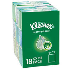 Kleenex Lotion Facial Tissues (75 tissues, 18 pk.)