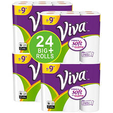 Viva SOFT CLOTH Choose-A-Sheet Paper Towels, 24 Big Plus Rolls