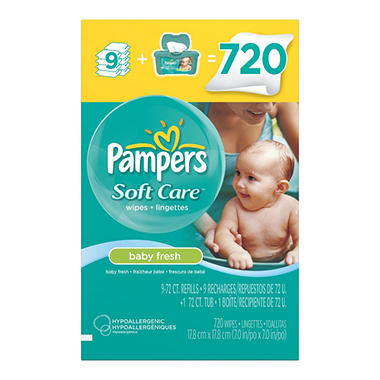 Pampers Baby Fresh Wipes 720 Ct Sam S Club