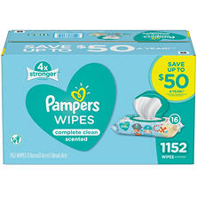 Pampers Baby Wipes, Complete Clean (1152 ct.)