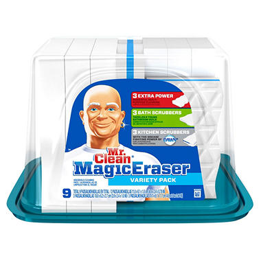 Mr. Clean - Magic Eraser - Use for a variety of household cleaning jobs. It's made of synthetic fibers, nonabrasive and you can start cleaning by simply adding water. - THD SKU# Price: $