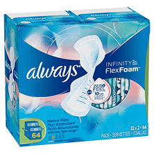 Always Infinity Pads, Super (64 ct.)