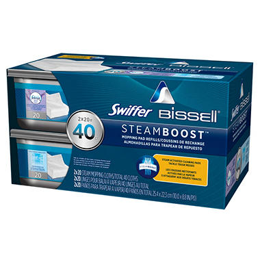 Swiffer Bissell Steamboost Refill Pads 20 Ct 2 Pk