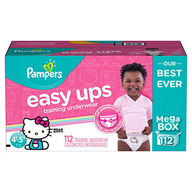 PAMPERS EASY UPS GIRLS TRAINING PANTS