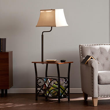 Jamison Side Table With Lamp Sam S Club