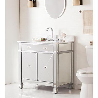Southern Enterprises Illusion Double Door Vanity Sink W