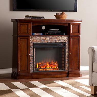 Burlington Electric Fireplace Media Console Sam 39 S Club