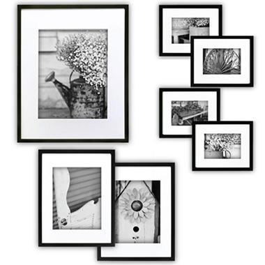 Gallery Perfect 7 Piece Frame Set Black Sam S Club