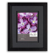 "Gallery Solutions 8"" x 10"" Black Frame with Black Airfloat Mat"