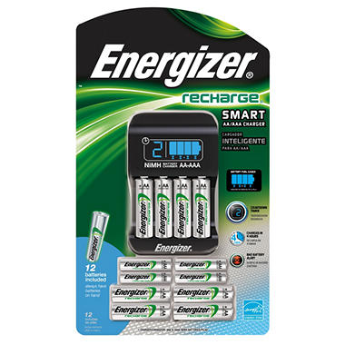energizer recharge smart charger and batteries sam 39 s club. Black Bedroom Furniture Sets. Home Design Ideas