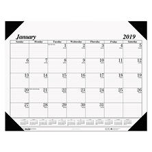 "House of Doolittle"" Recycled One-Color Refillable Monthly Desk Pad Calendar, 22 x 17, 2018"
