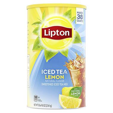 Lipton Lemon Iced Tea With Sugar Mix 95 7 Oz Can Makes
