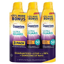 Coppertone Ultra Guard Sunscreen Continuous Spray, SPF 50 (6.9 oz., 3 pk.)