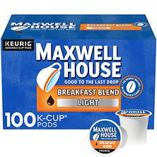 Maxwell House Breakfast Blend Coffee (100 K-Cups)