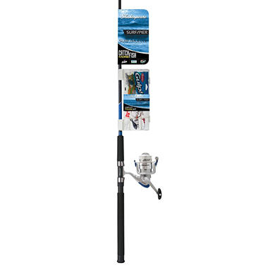 Shakespeare catch more fish surf pier spinning combo with for Shakespeare catch more fish