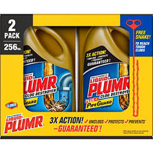 Liquid-Plumr Full Clog Destroyer, Pro-Strength (128 oz. bottles, 2 pk.)