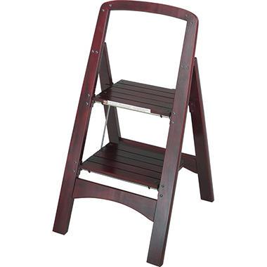 Cosco 2 Step Rockford Mahogany Step Stool Sam S Club