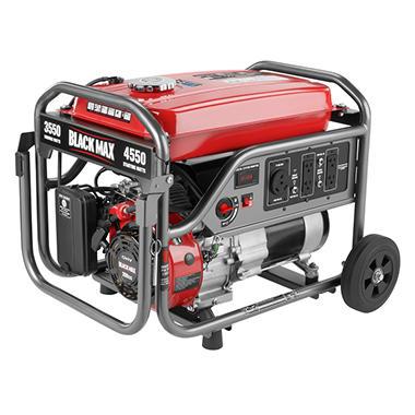 Black Max 3 550w 4 375w Portable Gas Powered Generator