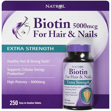 Natrol® Biotin Extra Strength Dietary Supplement - 5000mcg ...