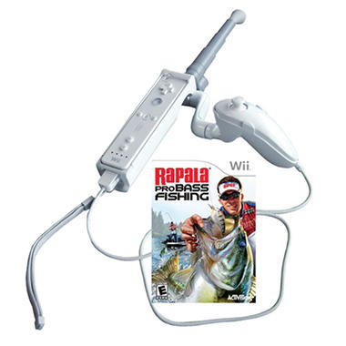 Rapala pro bass fishing 2010 with rod wii sam 39 s club for Wii fishing games