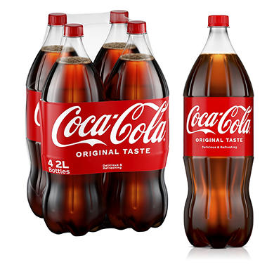 Coca-Cola (2 L bottles, 4 pk.) - Sam's Club