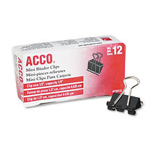 ACCO - Binder Clips, Mini - 12 Count