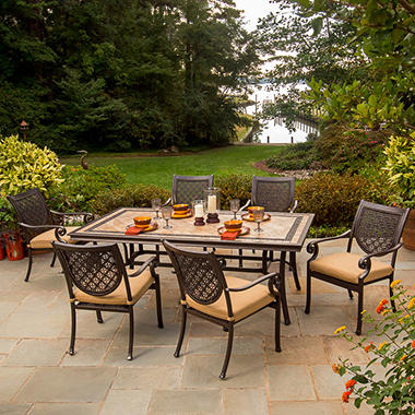 Bordeaux Patio Dining Set With Premium Sunbrella 174 Fabric
